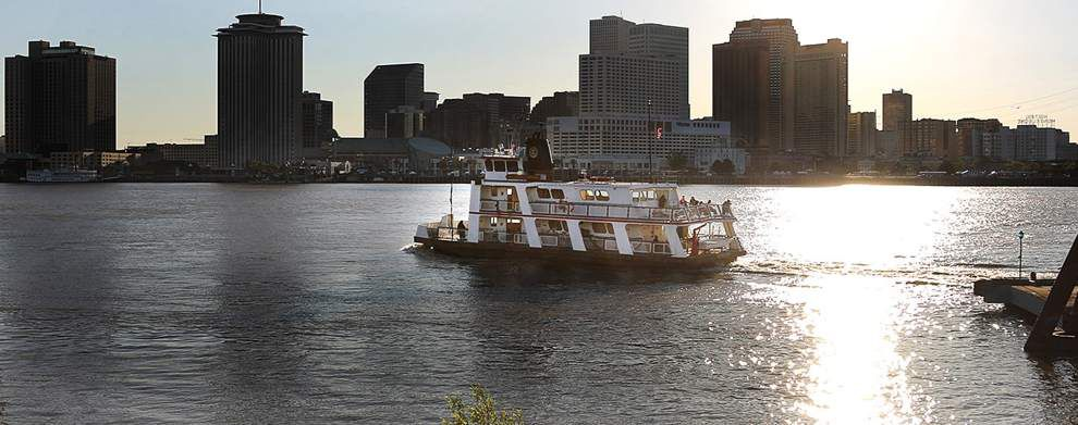 New Orleans' Canal Street ferry is back in service after being out of commission for most of the week _lowres
