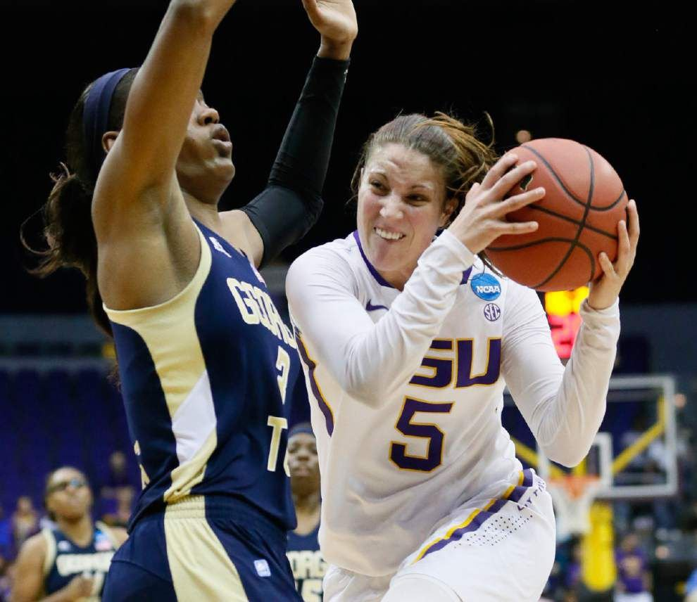 Danielle Ballard powers LSU women past Georgia Tech in NCAA opener _lowres