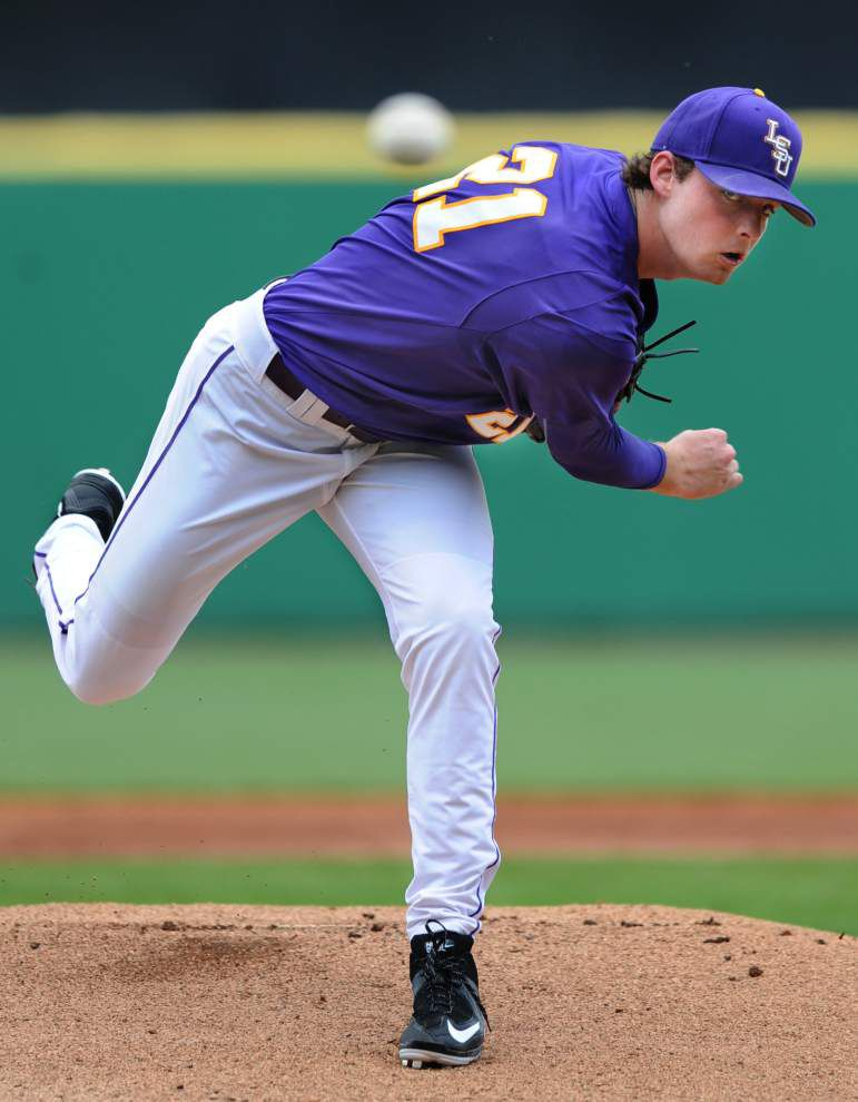LSU freshman pitchers Doug Norman and Austin Bain key 7-1 win over Grambling _lowres