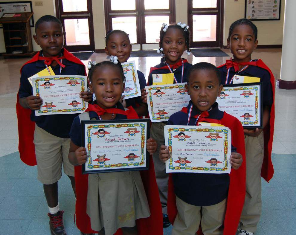 Word 'heroes' named at Donaldsonville Primary _lowres