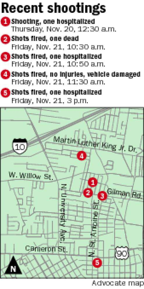 Lafayette shootings leave one dead, two hospitalized _lowres