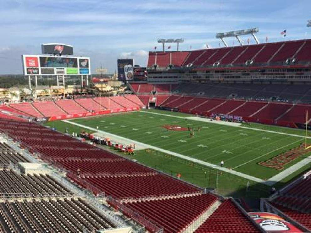 Welcome to Raymond James Stadium for the Saints at Tampa Bay Buccaneers game _lowres