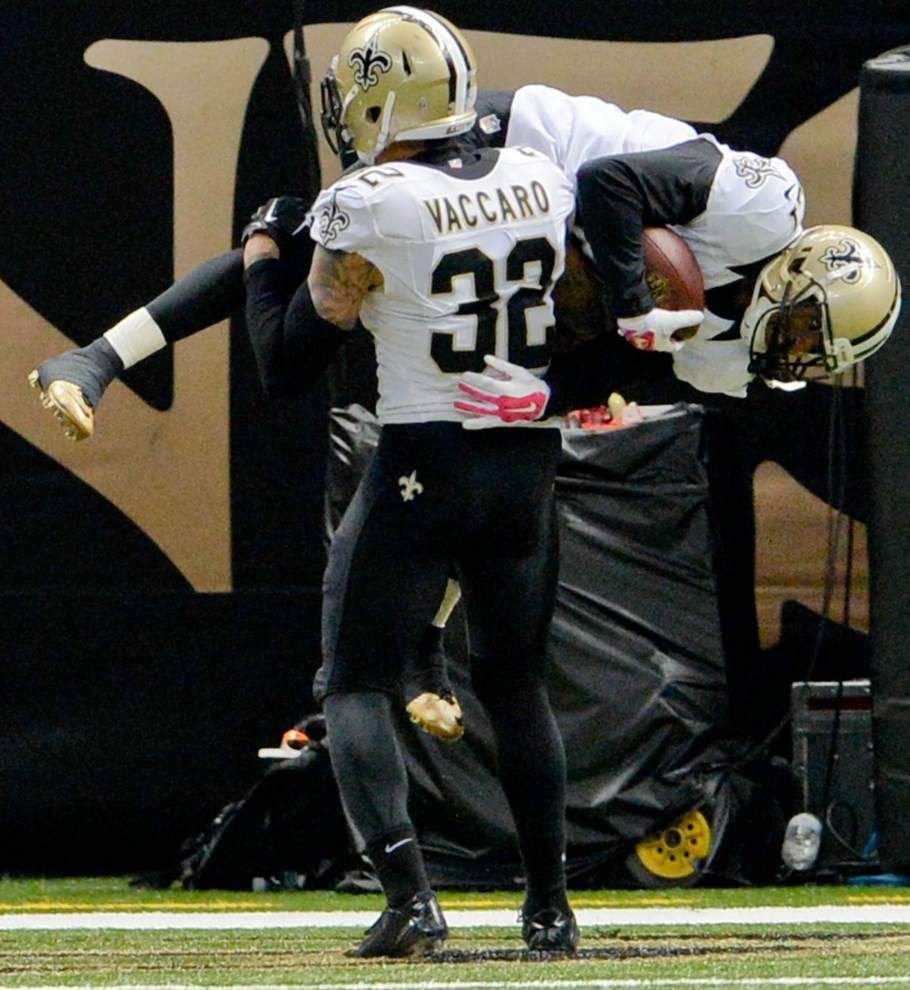 Now the senior member of the safety corps, Kenny Vaccaro is ready for the Saints to lean on him _lowres