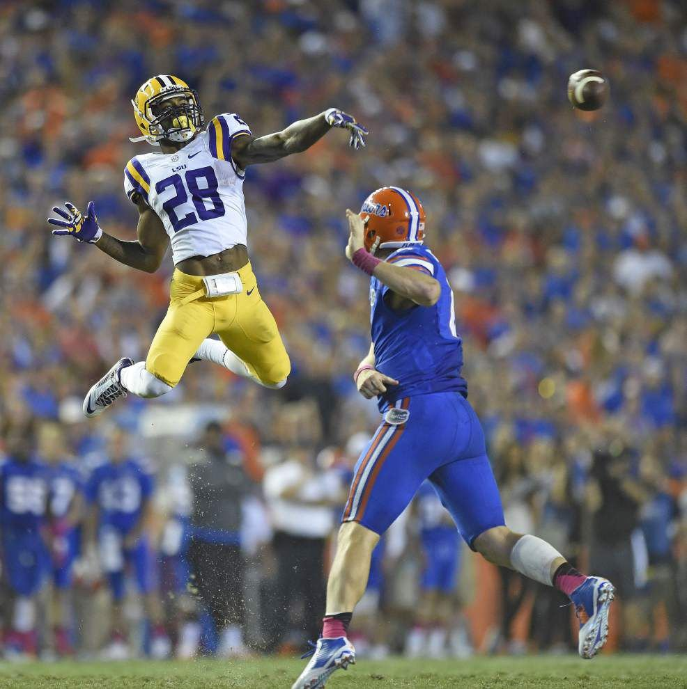 Video: Safety Jalen Mills says he saw LSU receiver Trey Quinn floating on fans after the Ole Miss win _lowres