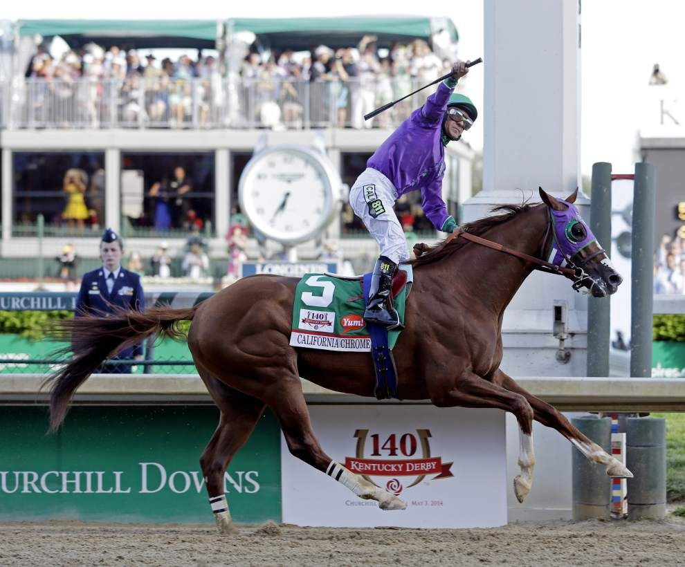 California Chrome shines again in Kentucky Derby win _lowres