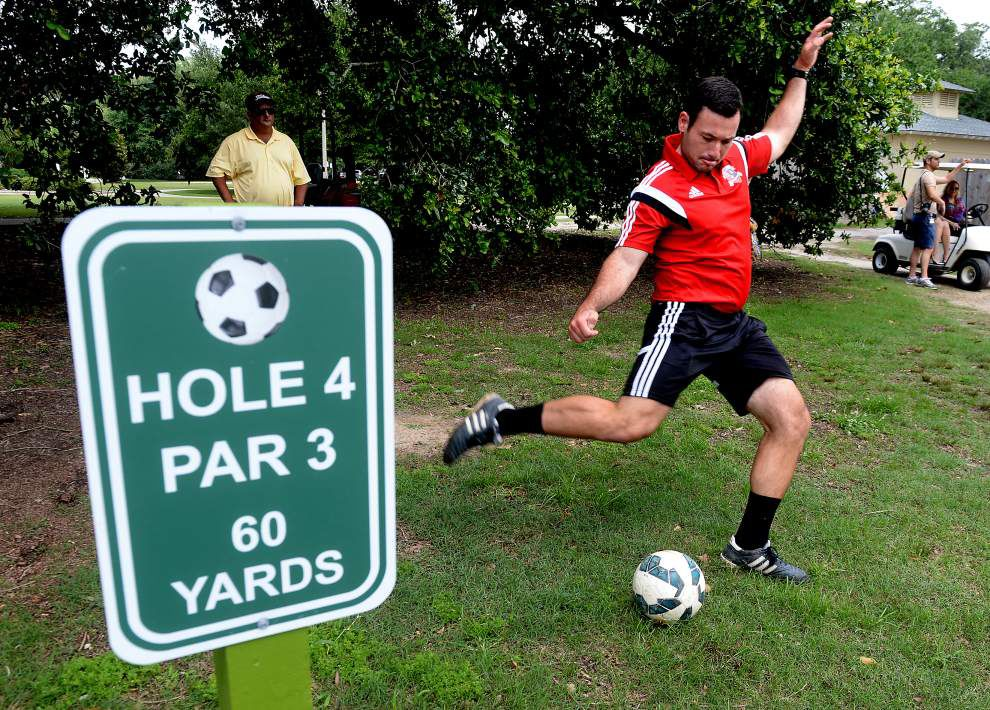 BREC opens FootGolf course near Baker _lowres