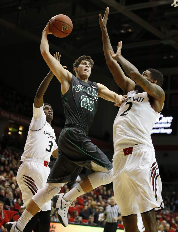 Jonathan Stark's 3-pointer lifts Tulane over Cincinnati at buzzer _lowres