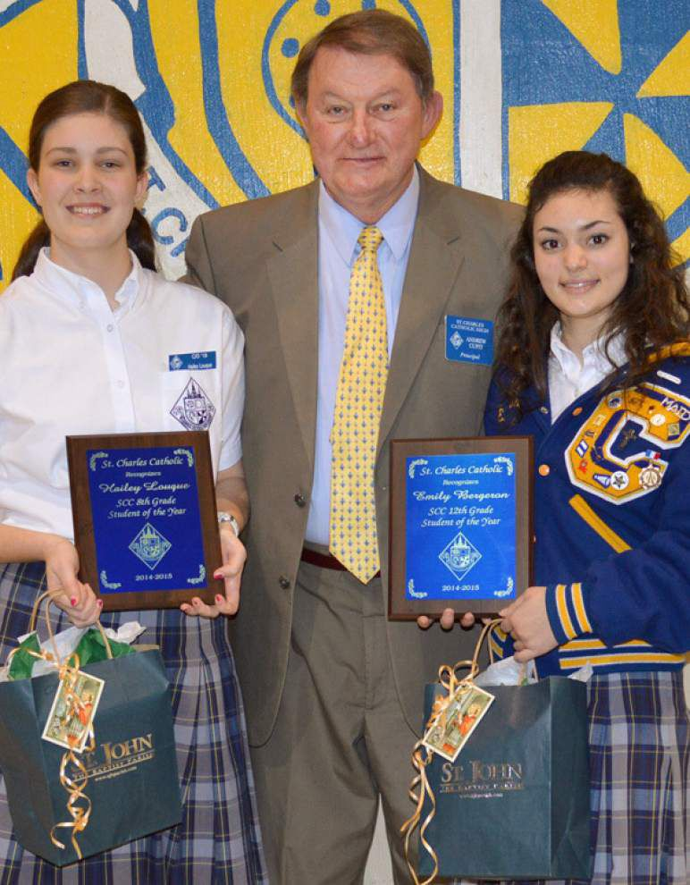 St. Charles Catholic High School honors its students of the year _lowres