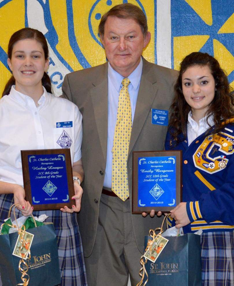 St. Charles Catholic High School chooses its students of the year _lowres