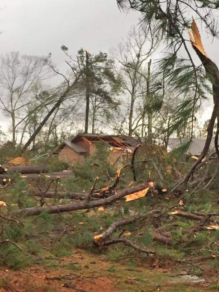Tornado knocks down trees, power lines near Amite _lowres