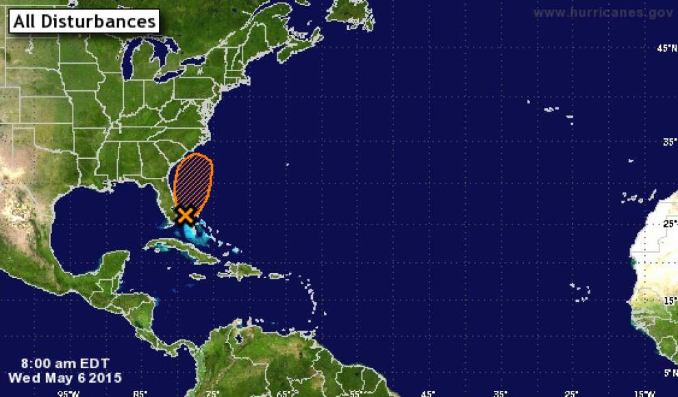 Tropical depression possible off east coast of Florida, month earlier than usual _lowres