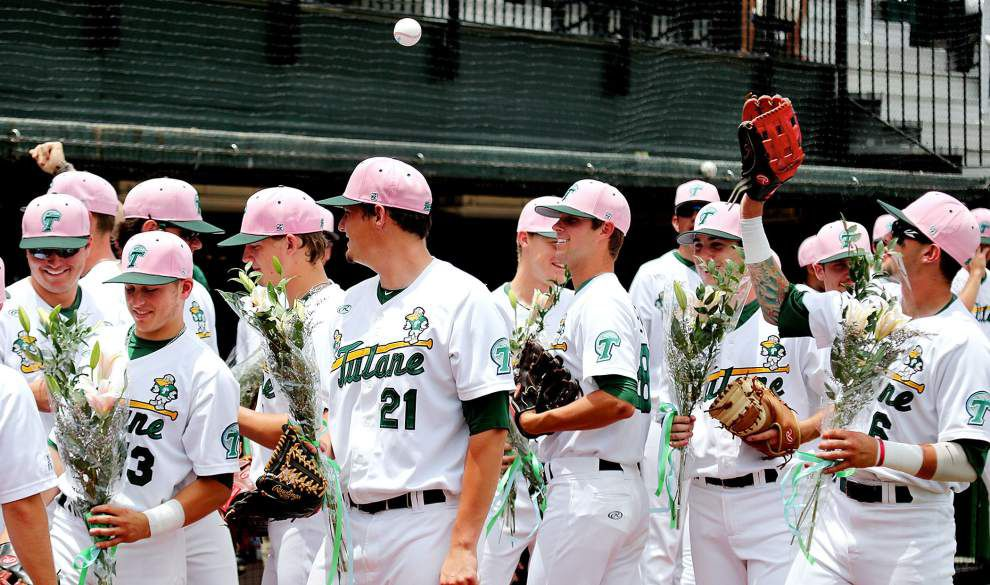 Richard Carthon's inside-the-park homer highlights Tulane's pivotal 4-3 win over South Florida _lowres