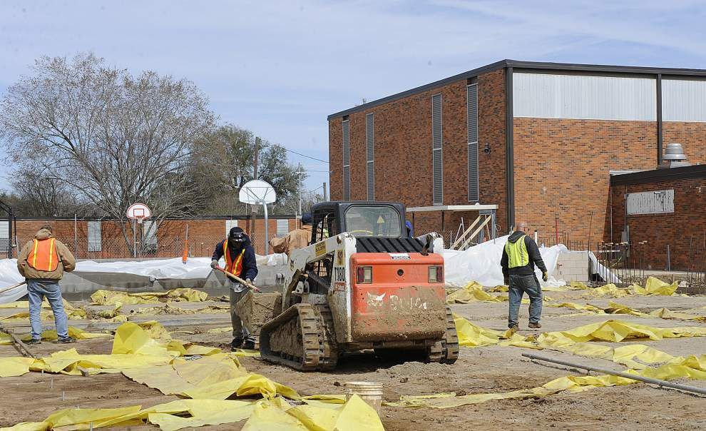 Weather delays L.J. Alleman Middle School cafeteria/auditorium project _lowres