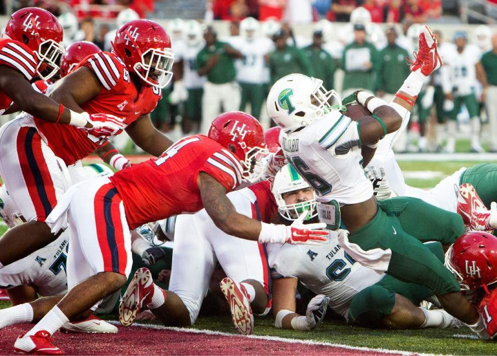 Tulane offensive line excels in win over Houston _lowres