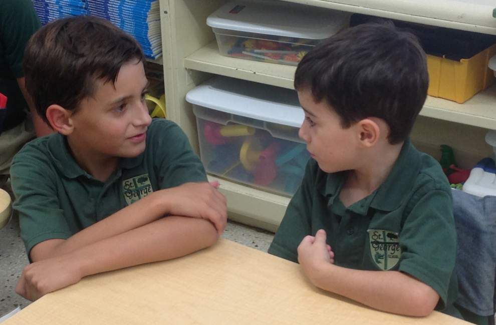 Buddy system provides mentors for St. George kindergartners _lowres