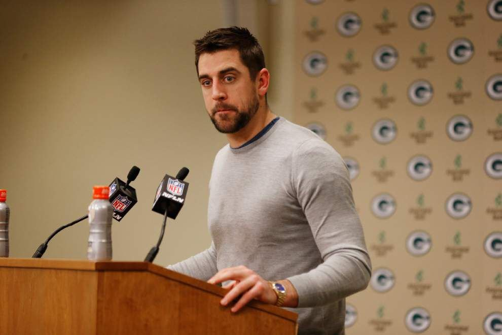 Packers quarterback Aaron Rodgers limited in practice _lowres