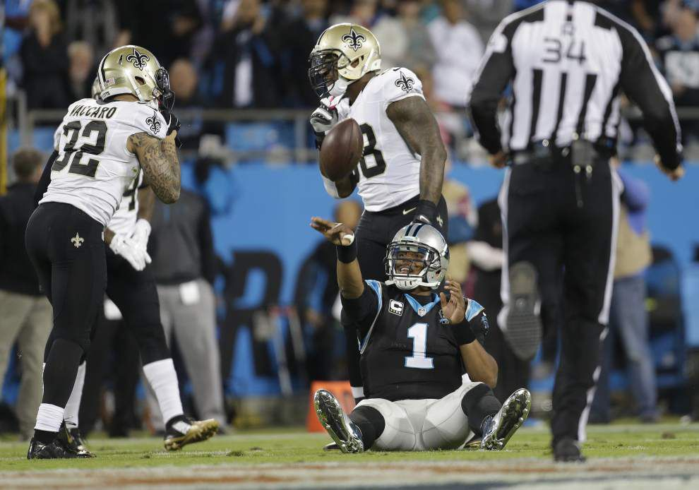 Saints force Carolina quarterback Cam Newton into one of his worst games _lowres