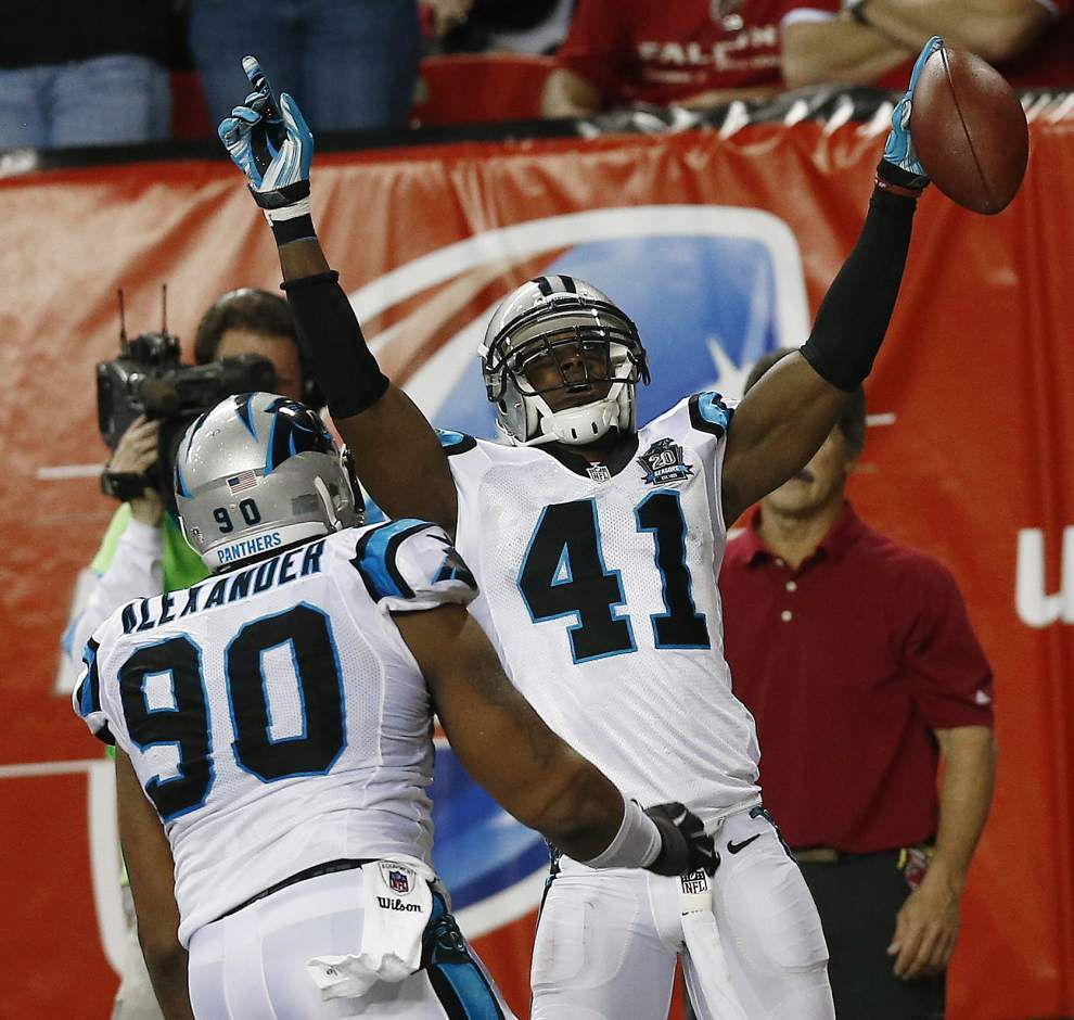Former Saints player Roman Harper gets best revenge playing on the NFC South champion Carolina Panthers _lowres