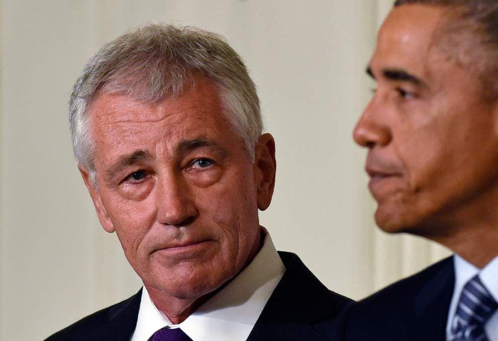 Pentagon chief Hagel stepping down under pressure _lowres