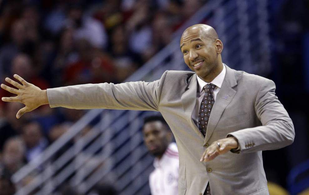 Listen to this: Report says Pelicans coach Monty Williams isn't sure the noise level at Golden State's Oracle Arena is legal _lowres