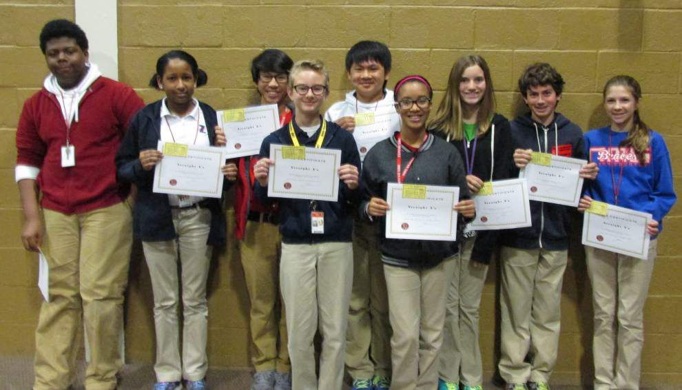 Northwestern Middle School students earn 'Gold' _lowres