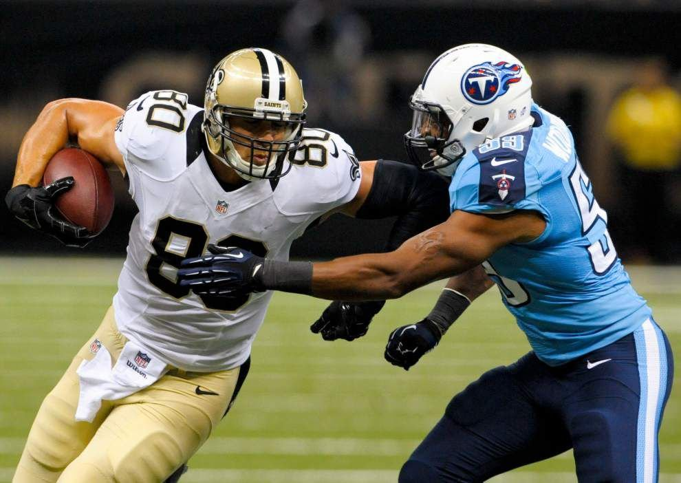 Saints notebook: Jimmy Graham scores twice, dunks twice on Titans _lowres