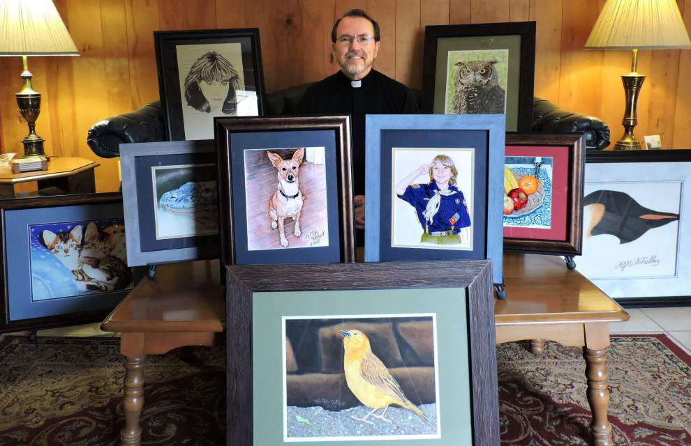 Around Jefferson: Art auction showcases priest's works _lowres