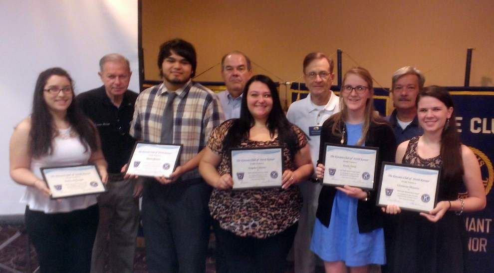 Kenner North Kiwanis award Key Clubs _lowres