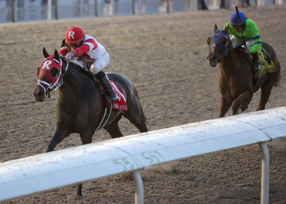 International Star closes fast to claim $200,000 Lecomte Stakes at the Fair Grounds _lowres