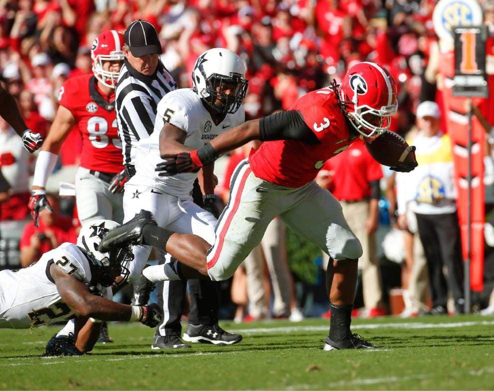 Todd Gurley-led Georgia rolls past Vanderbilt _lowres