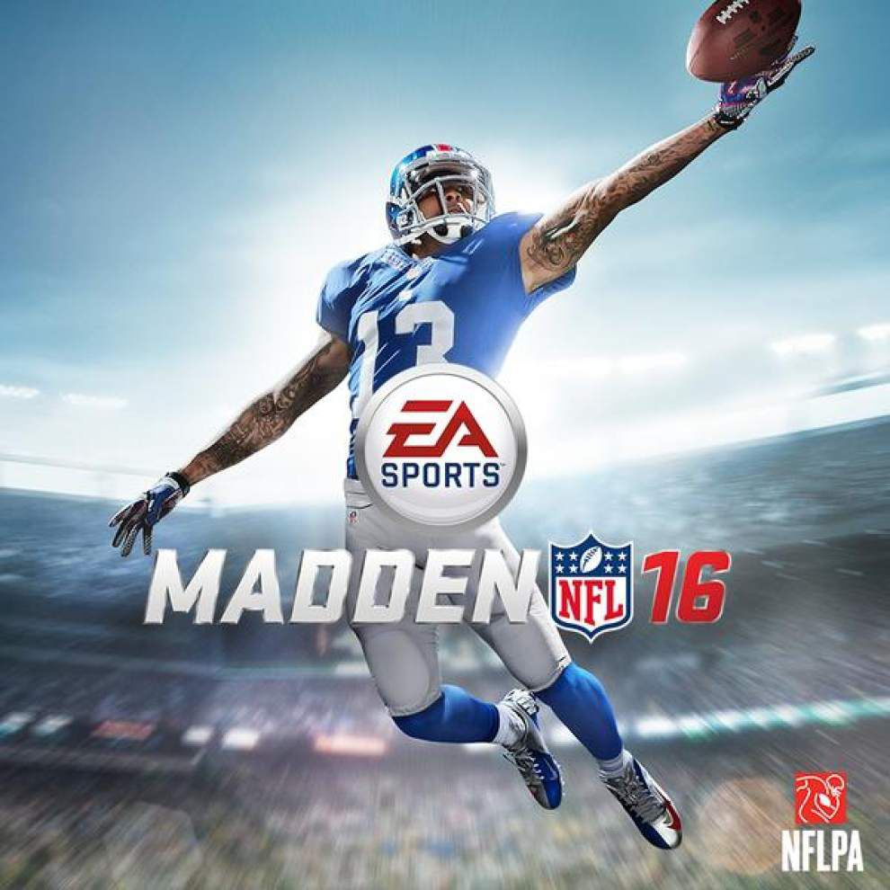 Former LSU Tiger, current New York Giants wide receiver Odell Beckham Jr. selected to grace the Madden NFL 16 cover _lowres