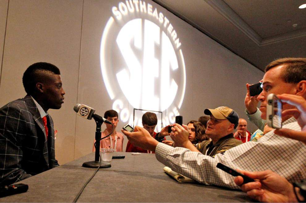 Live updates from Wednesday's SEC media day with LSU _lowres