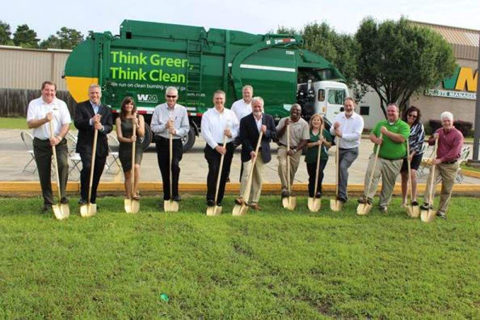 Waste Management starts construction on CNG fleet fueling facilitiy _lowres