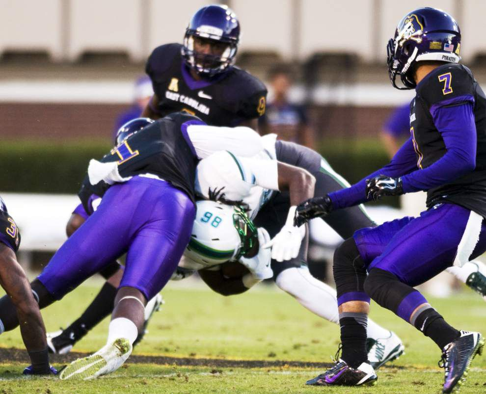 Tulane falls 34-6 at East Carolina _lowres
