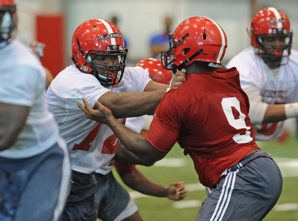 Ragin' Cajuns ramp up intensity at Wednesday practice _lowres