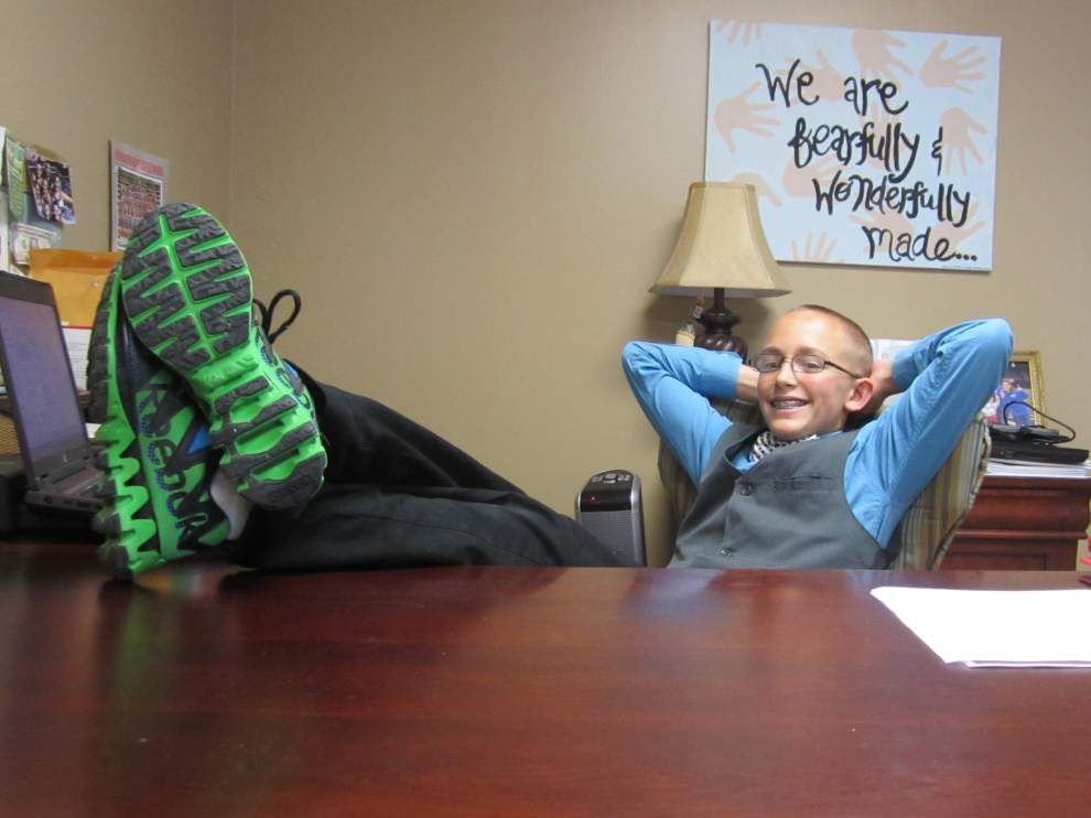 Principal for a day: 7th-grader suits up _lowres