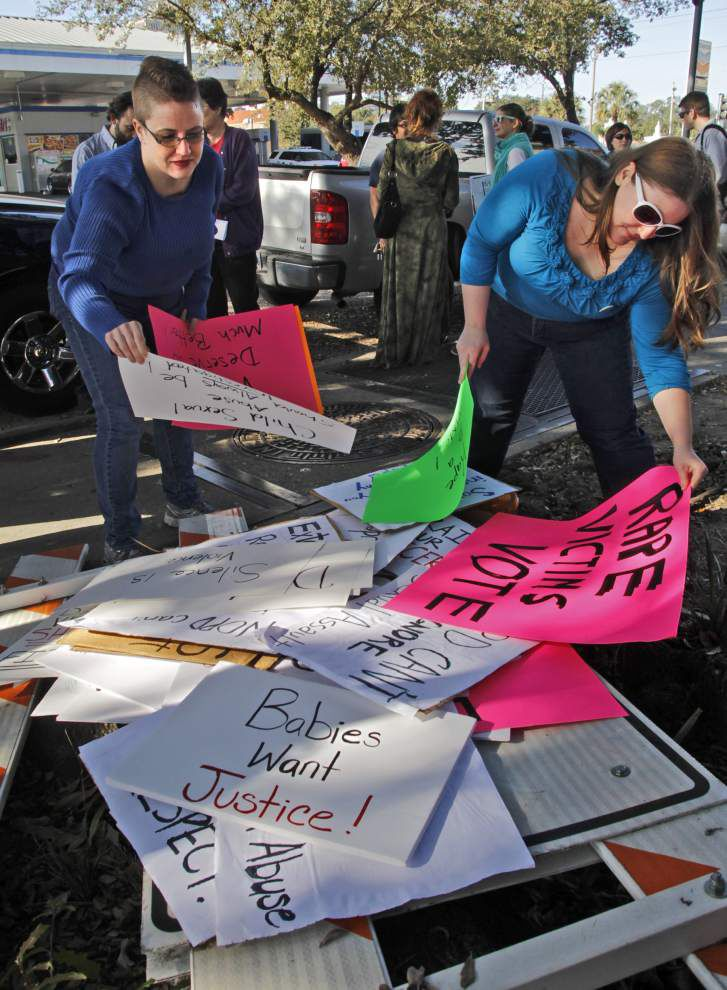 Marchers protest failures in NOPD's handling of rape allegations _lowres
