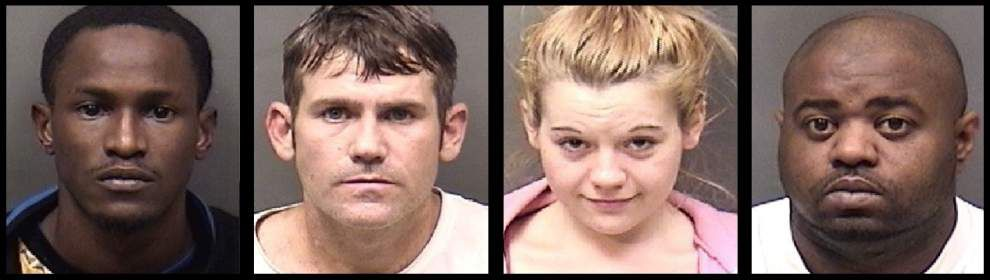 Four booked on drugs, weapon counts in Ascension Parish _lowres