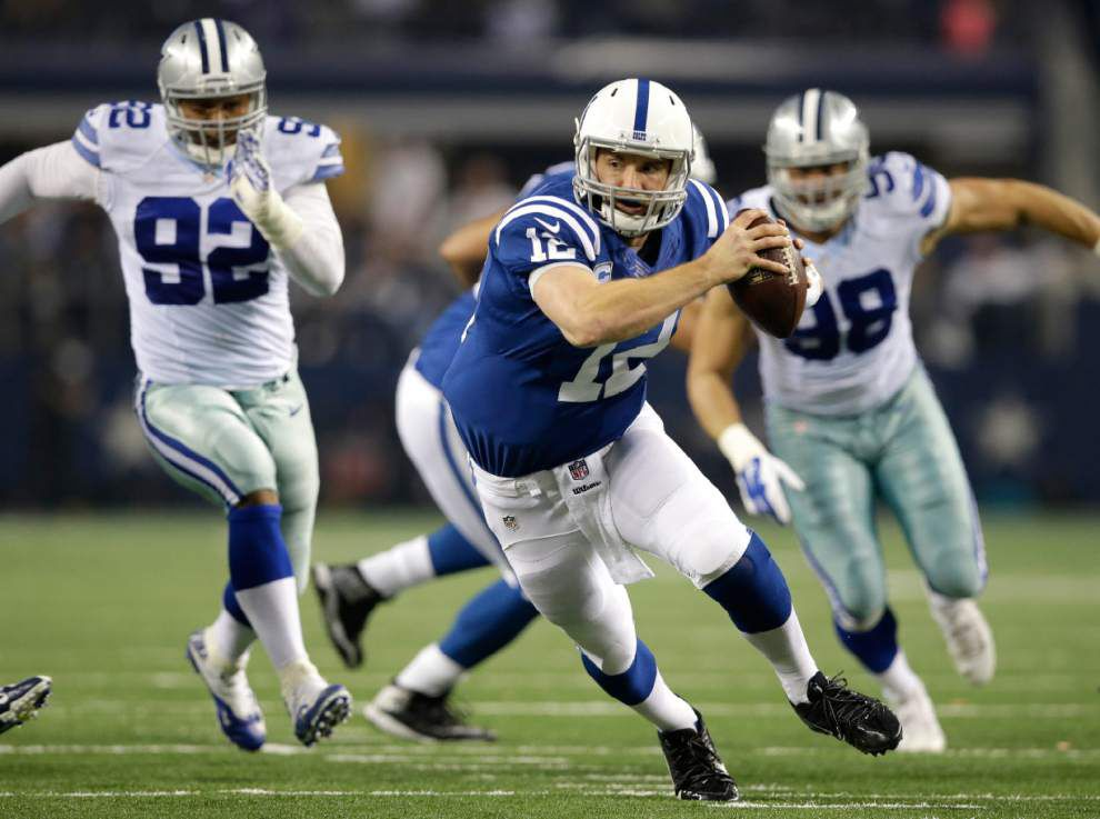 Andrew Luck, Andy Dalton looking for better results in playoffs _lowres