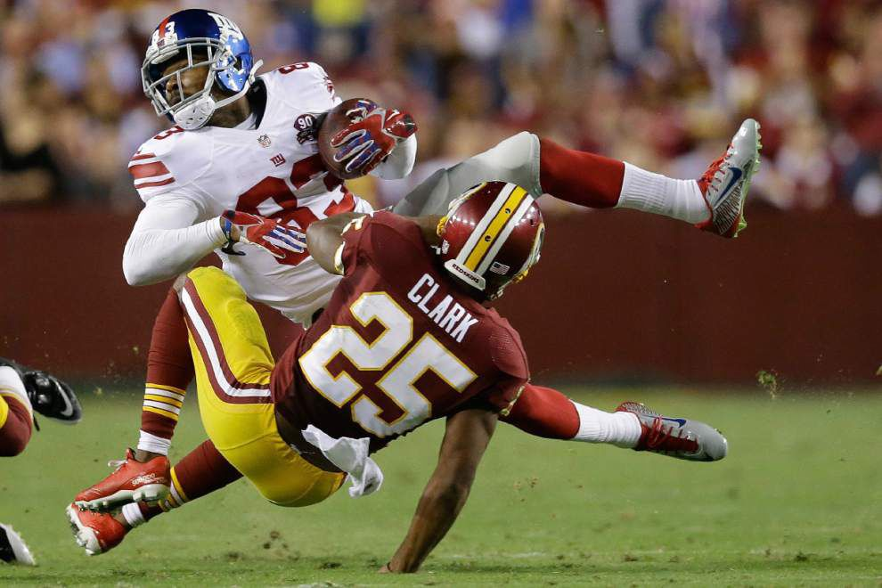 Tight end Larry Donnell erupts; New York Giants rout Washington Redskins 45-14 _lowres