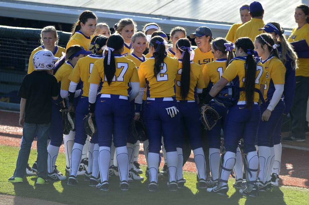 LSU softball team plans 'to keep pushing to get to No. 1' _lowres