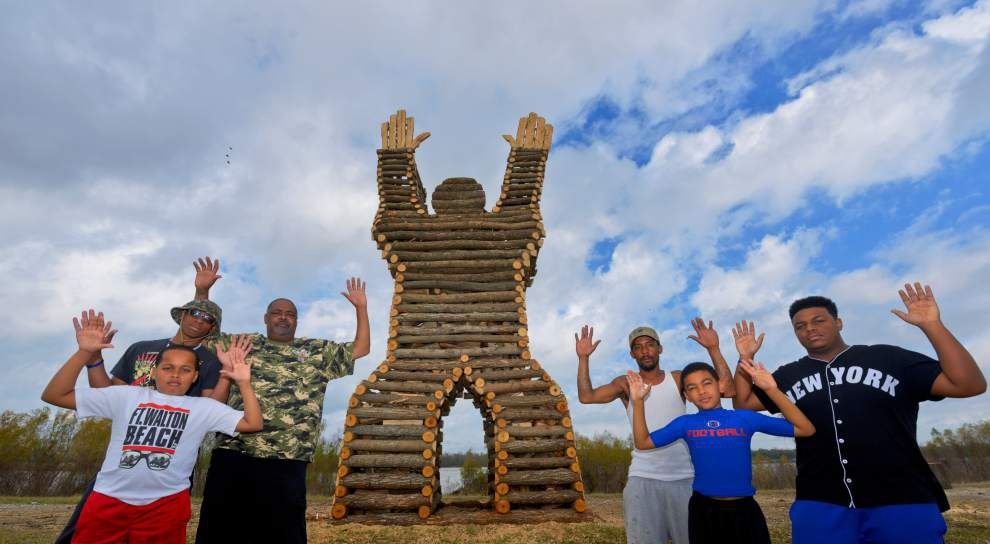 Michael Brown themed 'Hands up!' bonfire to be set on fire on Christmas Eve _lowres
