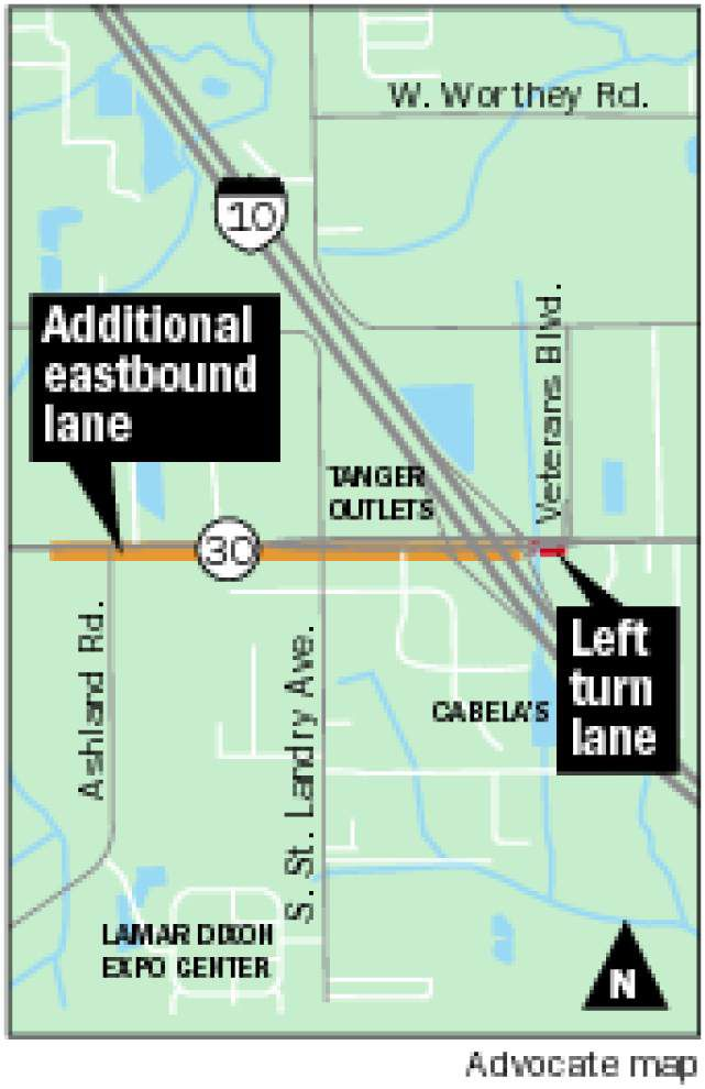 New lanes planned near La. 30 and I-10 _lowres
