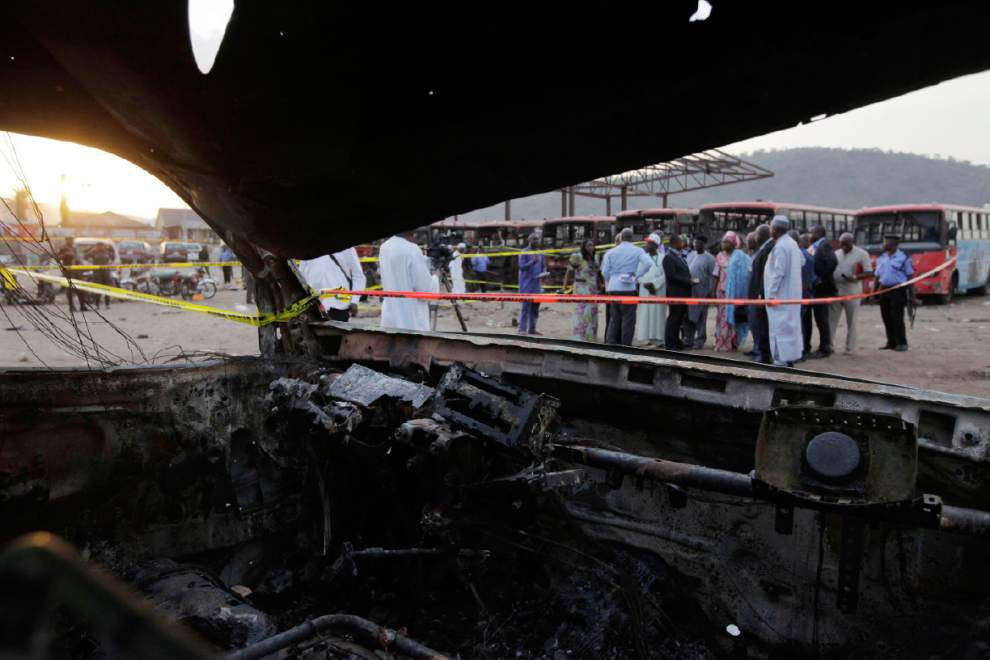 Police: Blast in Nigerian capital kills 71 _lowres