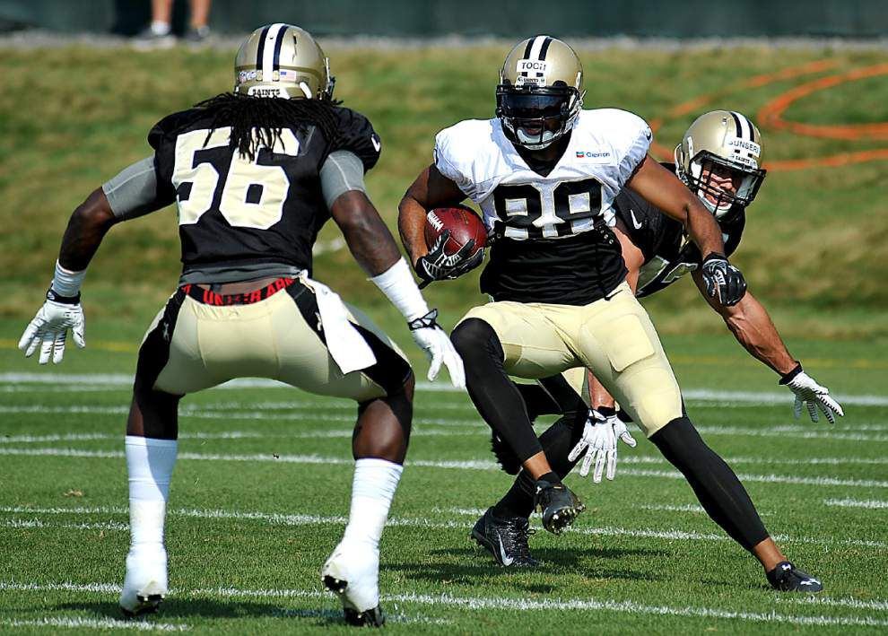 Video: Injuries were the talk of Saints' Monday practice _lowres