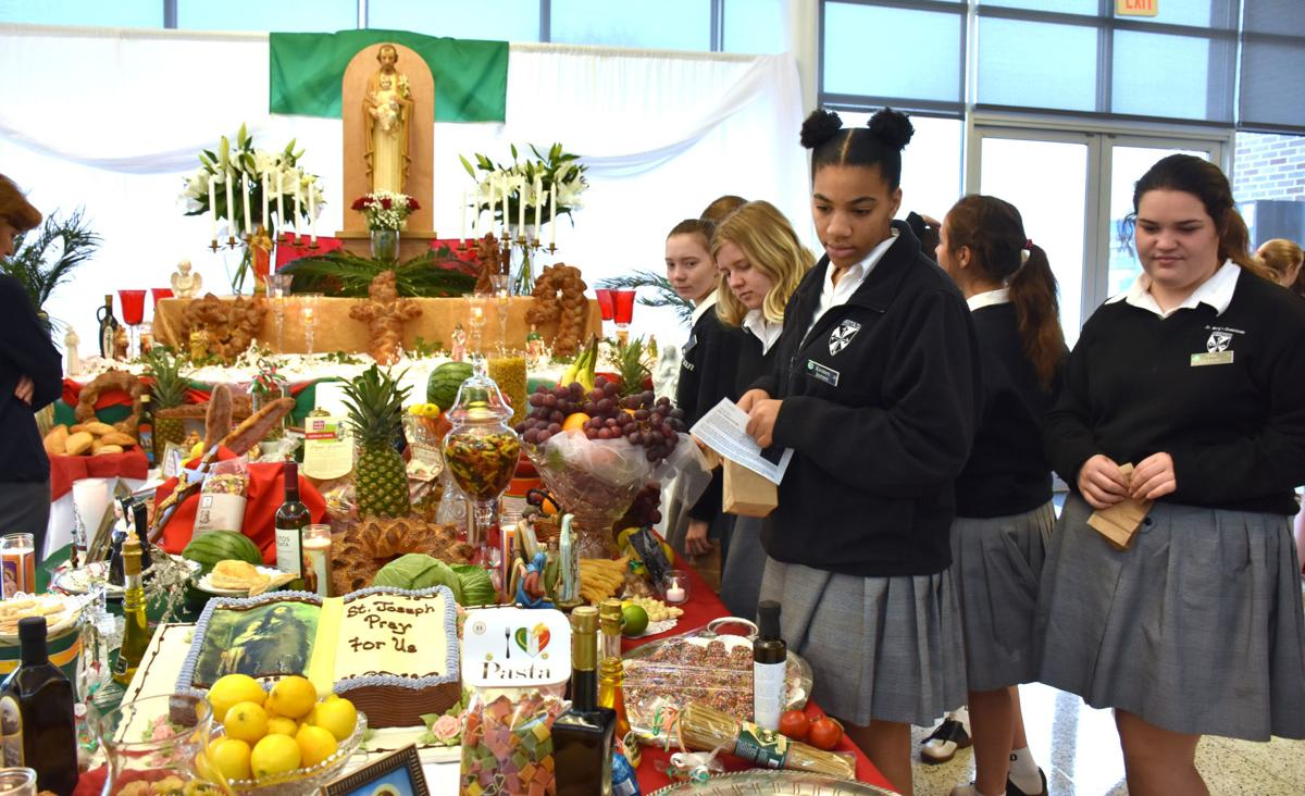 St Mary 39 S Dominican High School Fills St Joseph Altar With Symbolism Crescent City