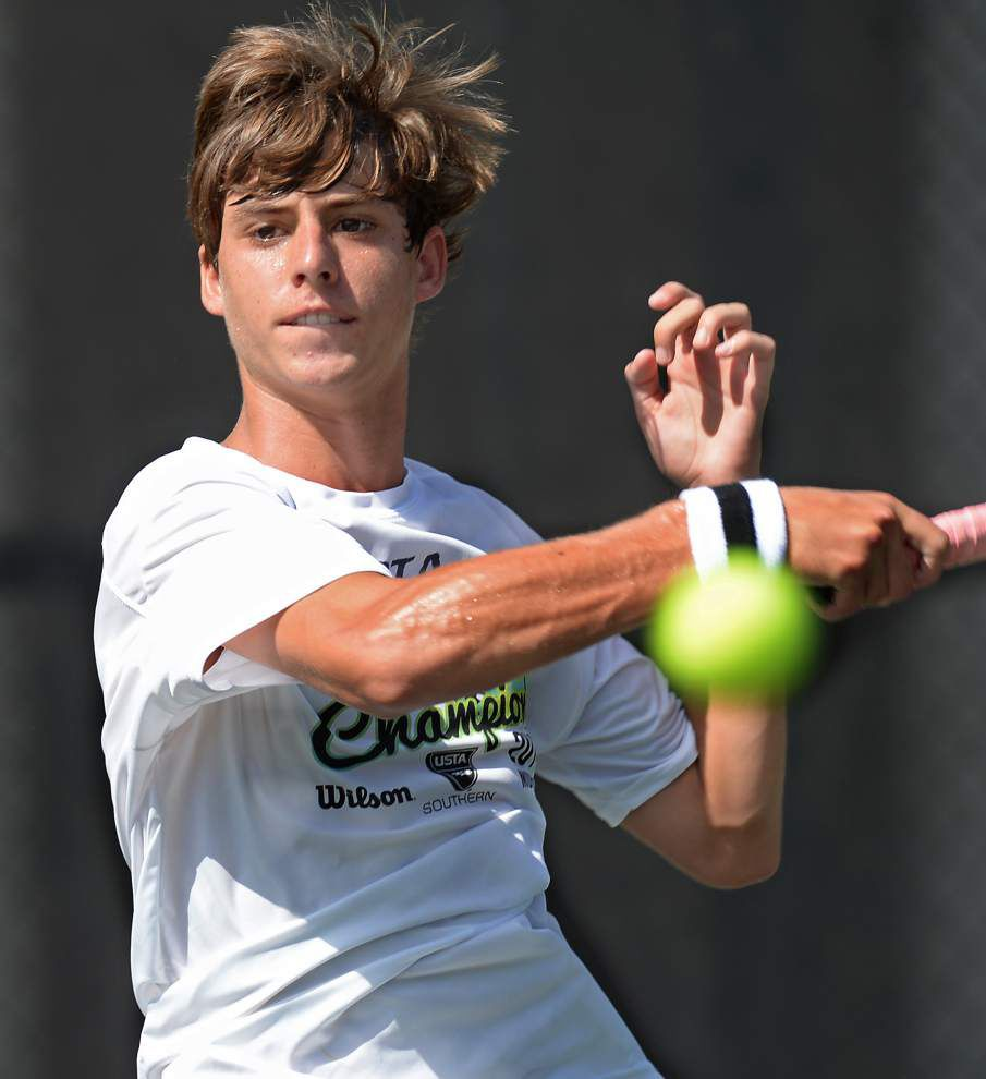 St. Michael's Cameron Andry has a life-long love affair with tennis _lowres