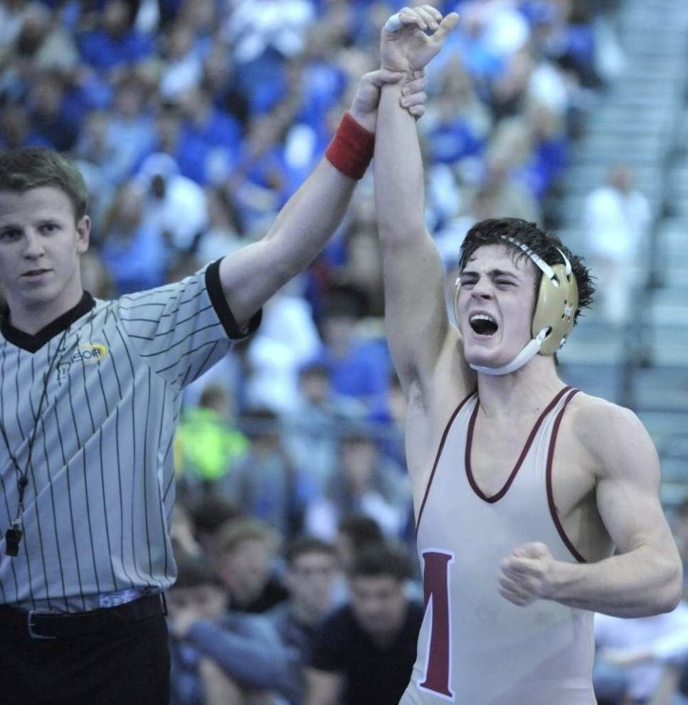 Video: Brother Martin wins its third consecutive state wrestling title _lowres