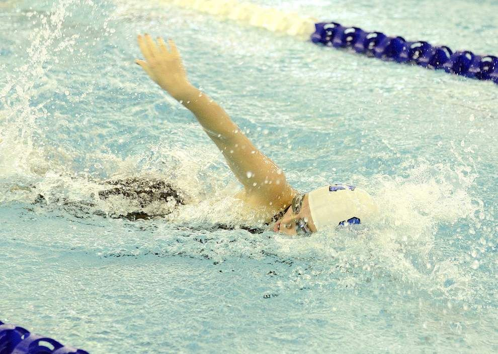 Madeleine Rawls helps St. Scholastica to fourth straight state swimming title _lowres