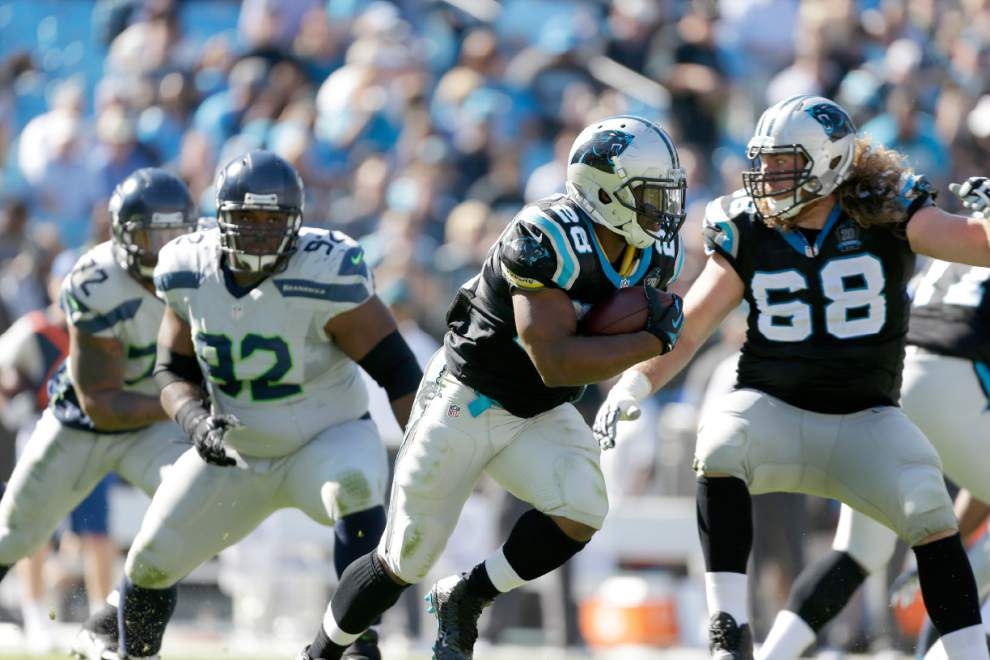 Panthers scratch three from offensive line ahead of Thursday's Saints game _lowres